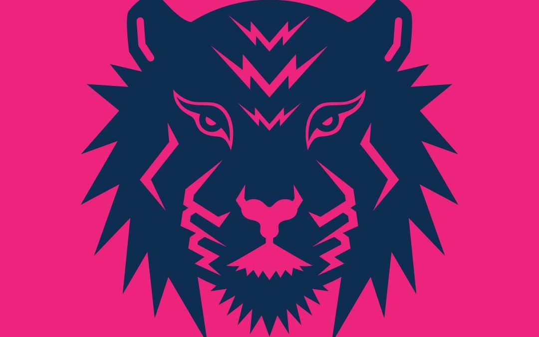 Tiger Accounting & Bookkeeping Services Logo Navy + Pink